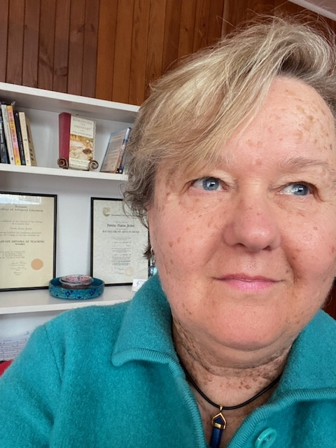 Pamela Jordan in her musical atelier